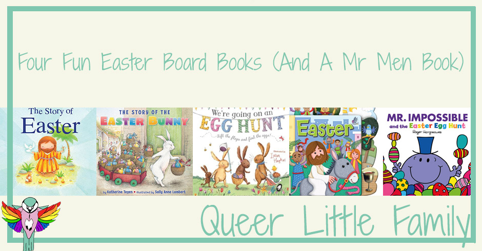 Four Fun Easter Board Books (And A Mr Men Book)