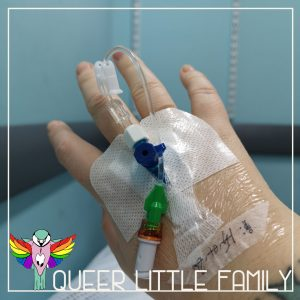 a picture of the cannula in my right hand.